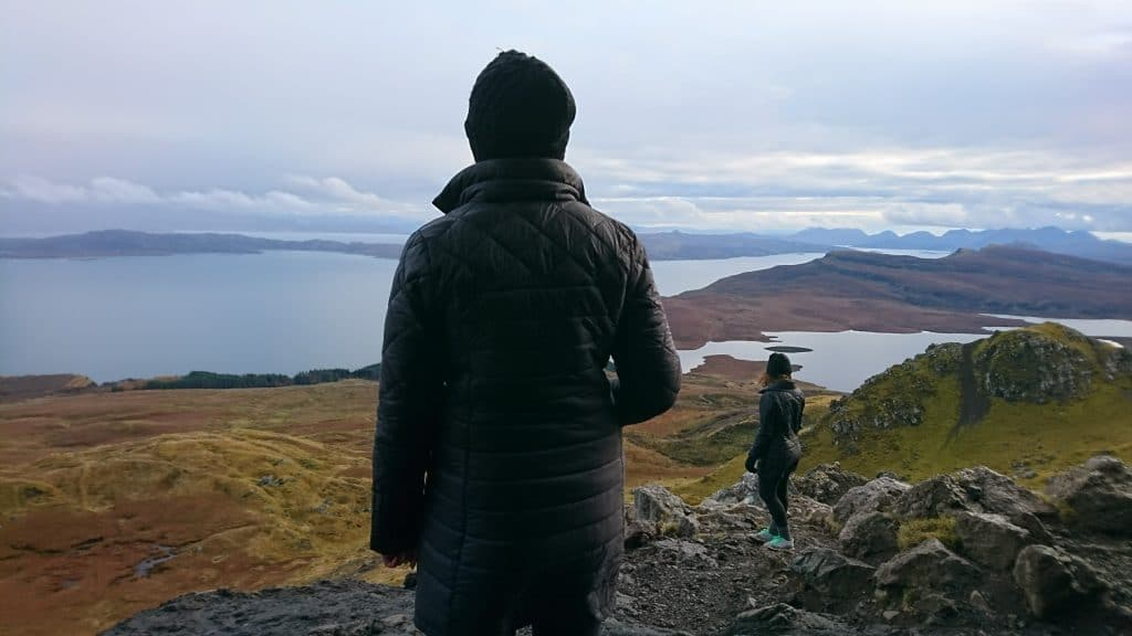 Old man Of Storr angin on Skye