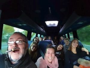 Tour group on the bus